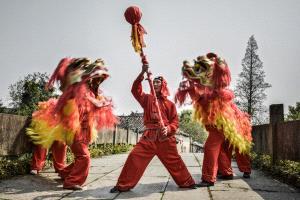 EGIPC Bronze Medal - Xiu Liu (China)  Lion Dance