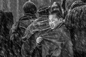 PhotoVivo Honor Mention - Yiliang Yang (China) <br /> Little Monk In The Snow 1